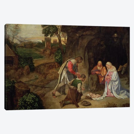 Adoration of the Shepherds, 1510 Canvas Print #BMN1092} by Giorgio Giorgione Canvas Print