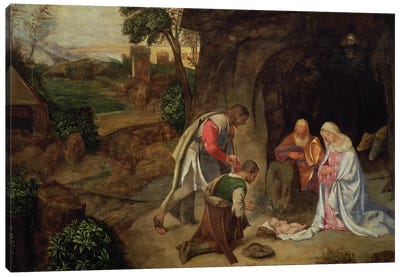 Adoration of the Shepherds, 1510 Canvas Art Print