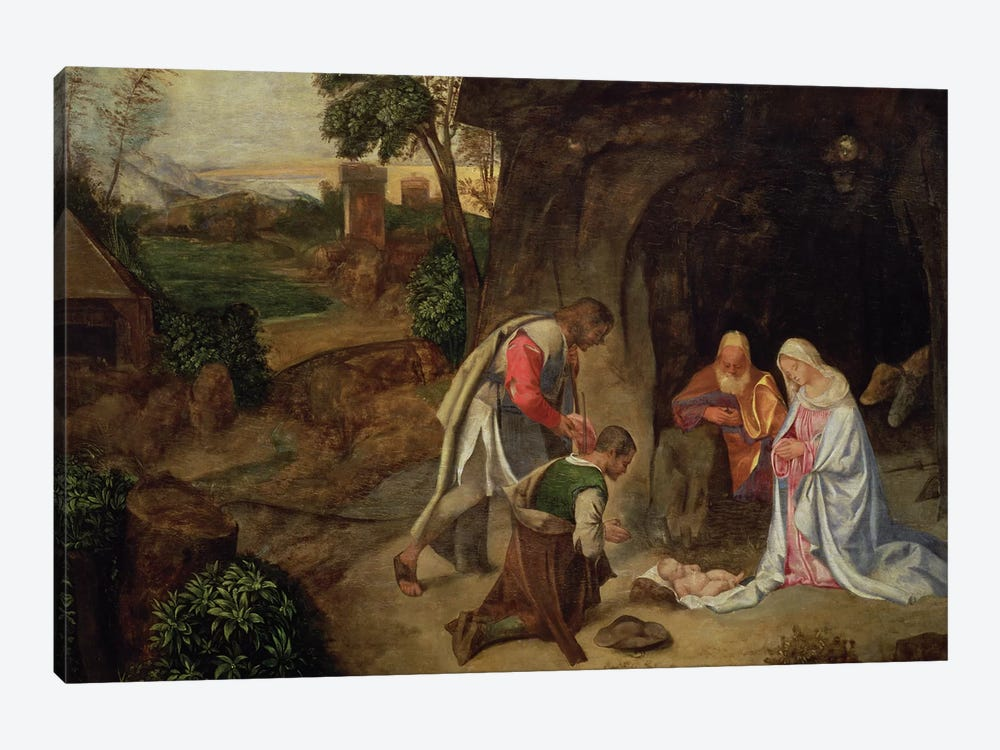 Adoration of the Shepherds, 1510 by Giorgio Giorgione 1-piece Canvas Artwork