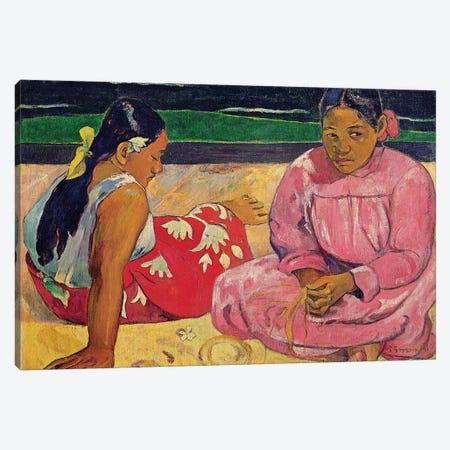 Women of Tahiti, On the Beach, 1891  Canvas Print #BMN10930} by Paul Gauguin Canvas Art Print