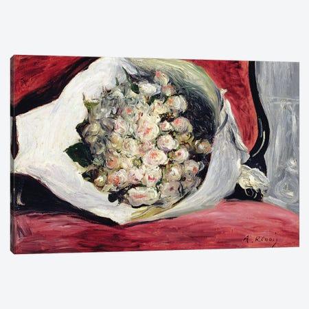 Bouquet in a theatre box, c.1878-80  Canvas Print #BMN10934} by Pierre-Auguste Renoir Canvas Wall Art
