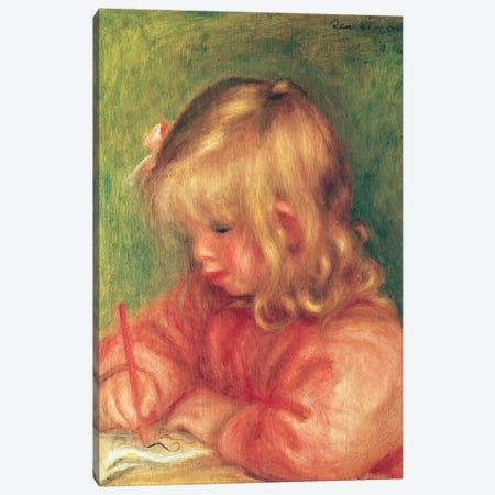 Child Drawing, 1905 Canvas Print #BMN10935} by Pierre-Auguste Renoir Canvas Art