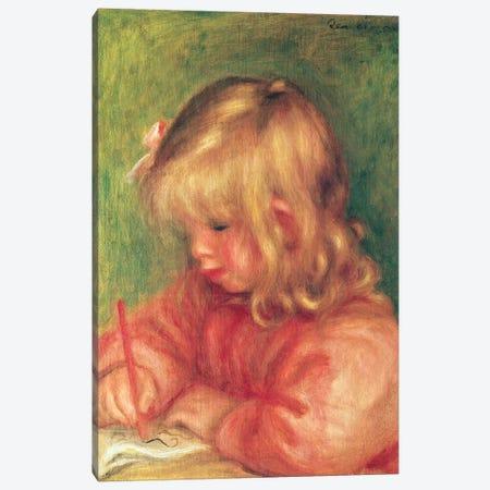 Child Drawing, 1905 Canvas Print #BMN10935} by Pierre-Auguste Renoir Canvas Art