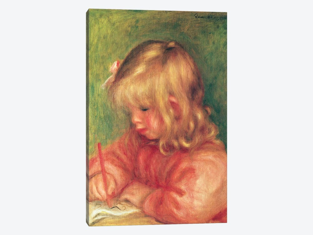 Child Drawing, 1905 by Pierre-Auguste Renoir 1-piece Canvas Wall Art
