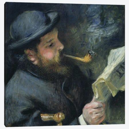 Claude Monet  reading a newspaper, 1872  Canvas Print #BMN10936} by Pierre-Auguste Renoir Canvas Art