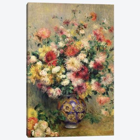 Dahlias  Canvas Print #BMN10938} by Pierre-Auguste Renoir Canvas Art Print