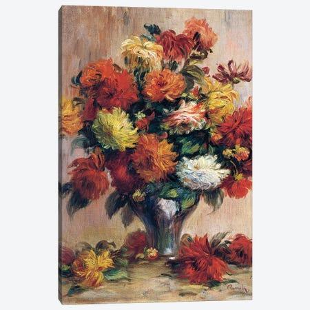 Dahlias Canvas Print #BMN10939} by Pierre-Auguste Renoir Canvas Print