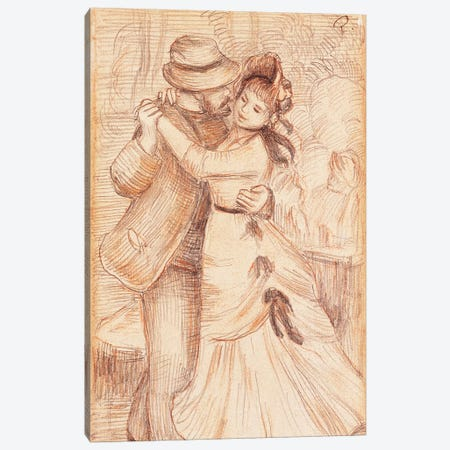 Dance in the Country, 1883  Canvas Print #BMN10940} by Pierre-Auguste Renoir Canvas Wall Art