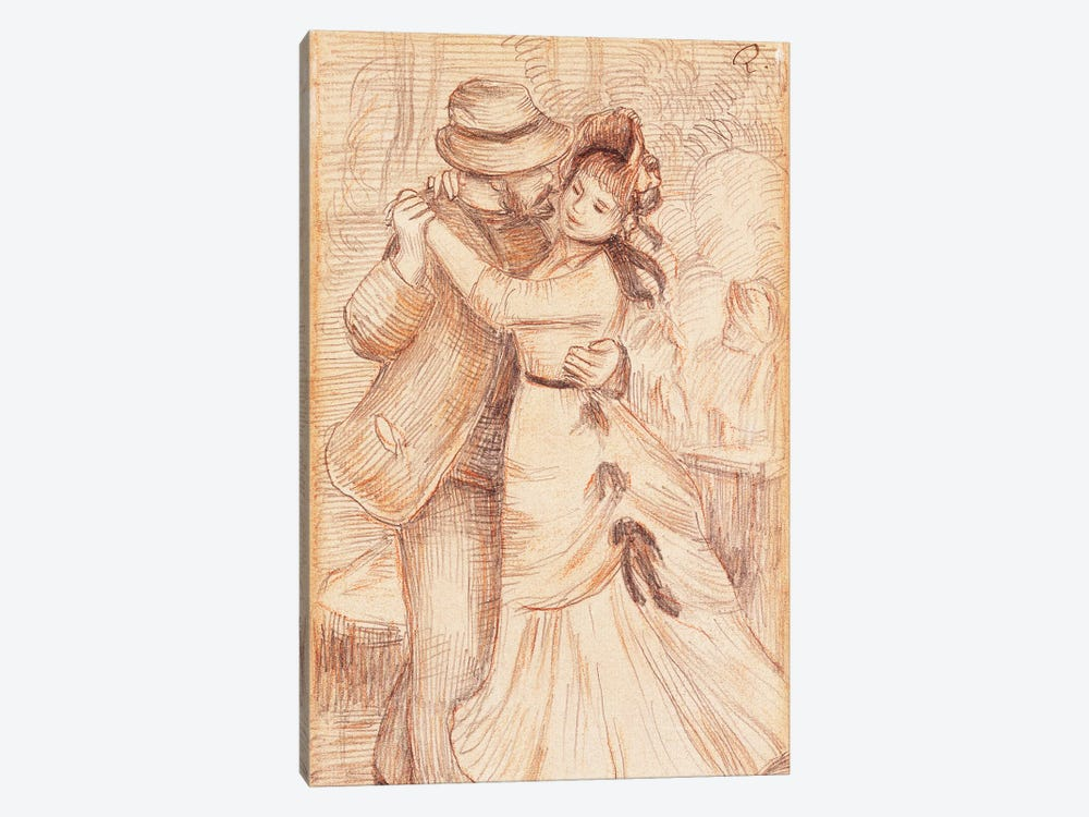 Dance in the Country, 1883  by Pierre-Auguste Renoir 1-piece Canvas Wall Art