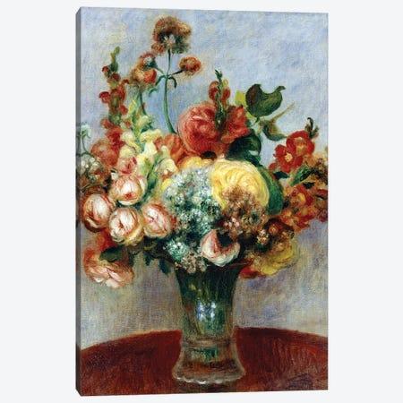 Flowers in a Vase Canvas Print #BMN10942} by Pierre-Auguste Renoir Canvas Art