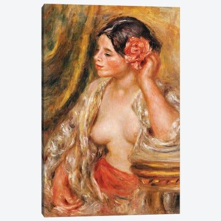 Gabrielle a sa Coiffure, 1910  Canvas Print #BMN10944} by Pierre-Auguste Renoir Canvas Print