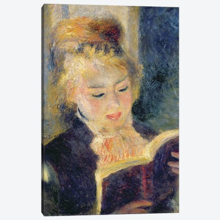 Girl Reading, 1874  Canvas Print #BMN10946} by Pierre-Auguste Renoir Canvas Print