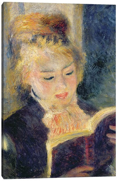 Girl Reading, 1874  Canvas Art Print