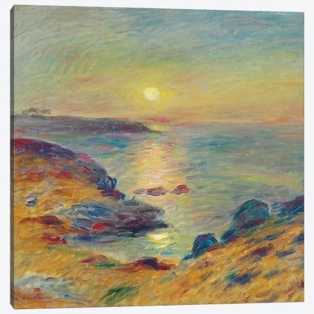 Sunset at Douarnenez, c. 1883  Canvas Print #BMN10948} by Pierre-Auguste Renoir Canvas Wall Art