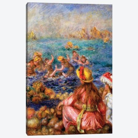 The Bathers, 1892  Canvas Print #BMN10949} by Pierre-Auguste Renoir Canvas Wall Art