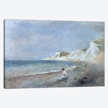 The Beach at Varangeville, c.1880  Canvas Print #BMN10950} by Pierre-Auguste Renoir Canvas Art Print
