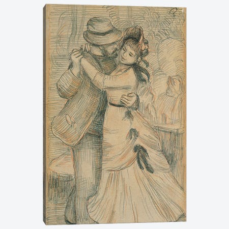 The Country Dance, 1883  Canvas Print #BMN10952} by Pierre-Auguste Renoir Art Print