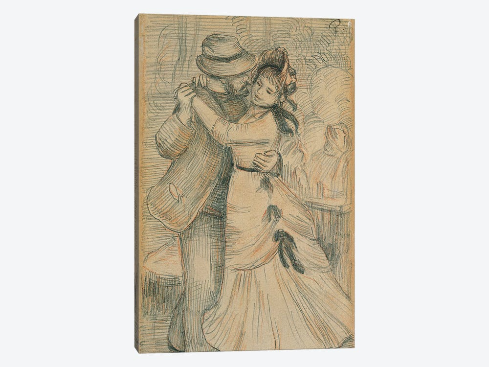 The Country Dance, 1883  by Pierre-Auguste Renoir 1-piece Canvas Art Print
