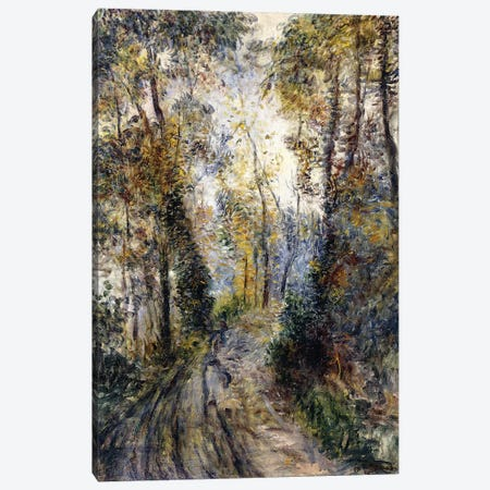 The Forest Path, 1871  Canvas Print #BMN10954} by Pierre-Auguste Renoir Canvas Wall Art