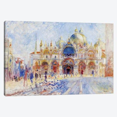 The Piazza San Marco, Venice, 1881  Canvas Print #BMN10957} by Pierre-Auguste Renoir Canvas Wall Art