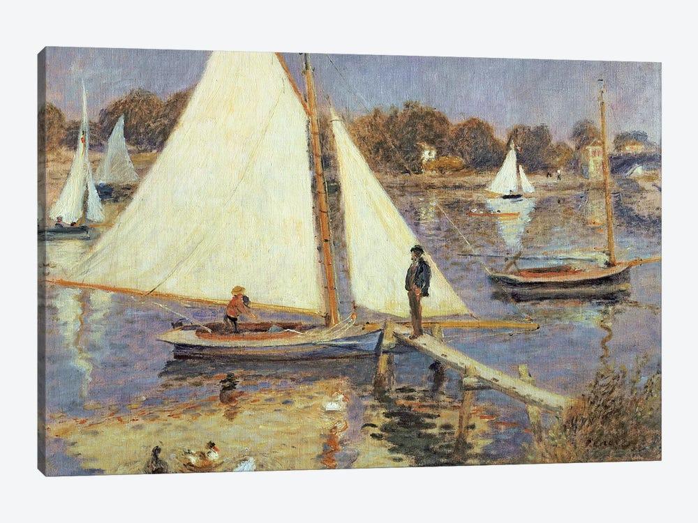 The Seine at Argenteuil, 1874  by Pierre-Auguste Renoir 1-piece Canvas Wall Art