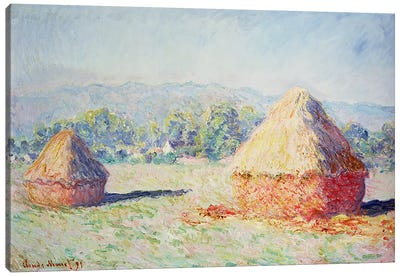 Haystacks in the Sun, Morning Effect, 1891 Canvas Print #BMN1095
