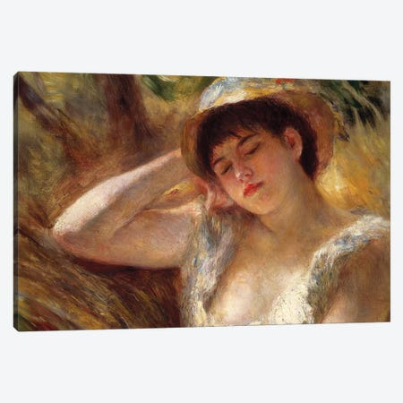 The Sleeper, 1880  Canvas Print #BMN10961} by Pierre-Auguste Renoir Canvas Wall Art