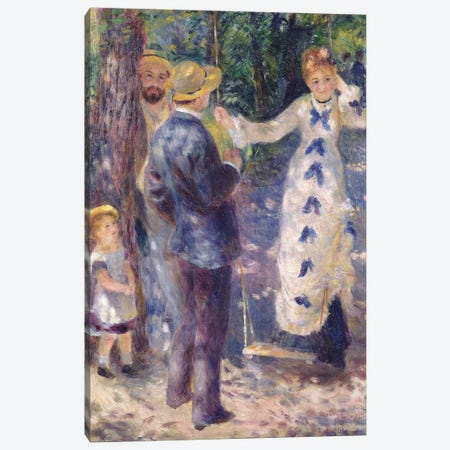 The Swing, 1876  Canvas Print #BMN10962} by Pierre-Auguste Renoir Canvas Wall Art