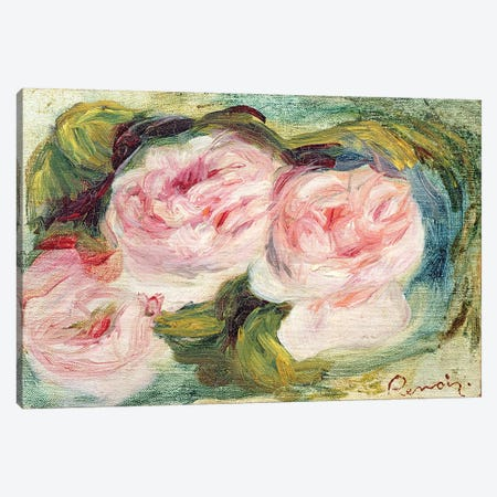 The Three Roses Canvas Print #BMN10963} by Pierre-Auguste Renoir Canvas Wall Art