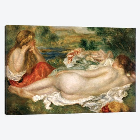 Two Bathers, 1896  Canvas Print #BMN10964} by Pierre-Auguste Renoir Canvas Print