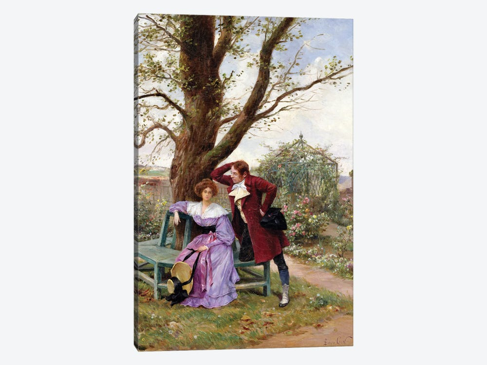 Flirtation by Georges Jules Auguste Cain 1-piece Canvas Wall Art