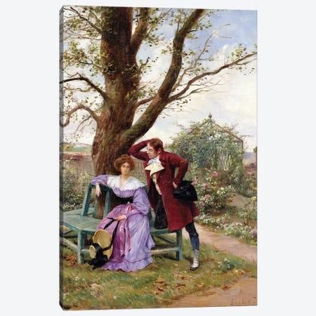 Flirtation Canvas Print #BMN1096} by Georges Jules Auguste Cain Canvas Art