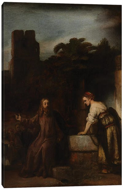 Christ and the Woman of Samaria, c.1655  Canvas Art Print