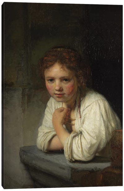 Girl at a Window, 1645  Canvas Art Print