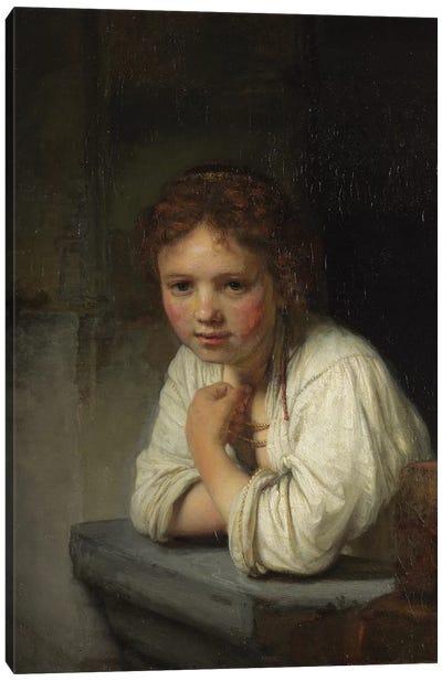 Girl at a Window, 1645  Canvas Art Print