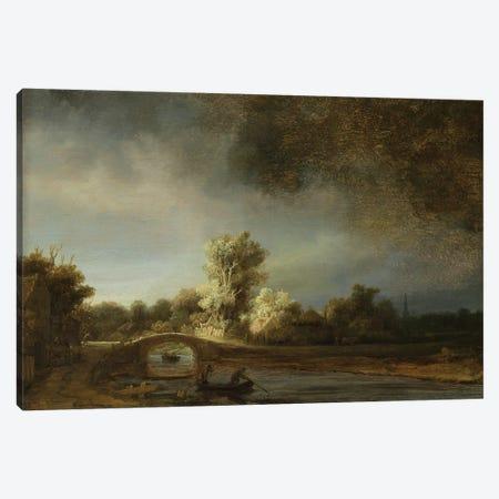 Landscape with a Stone Bridge, c.1638  Canvas Print #BMN10981} by Rembrandt van Rijn Canvas Artwork