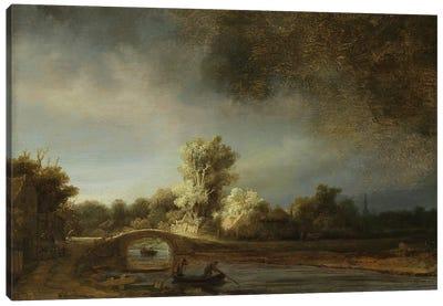 Landscape with a Stone Bridge, c.1638  Canvas Art Print