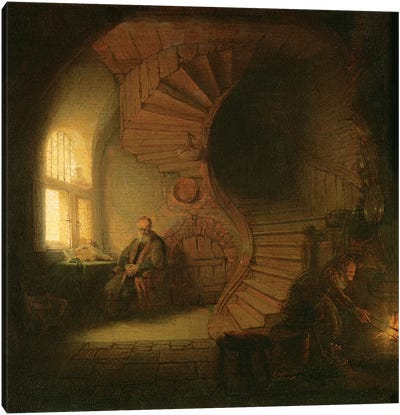 Philosopher in Meditation, 1632  Canvas Art Print