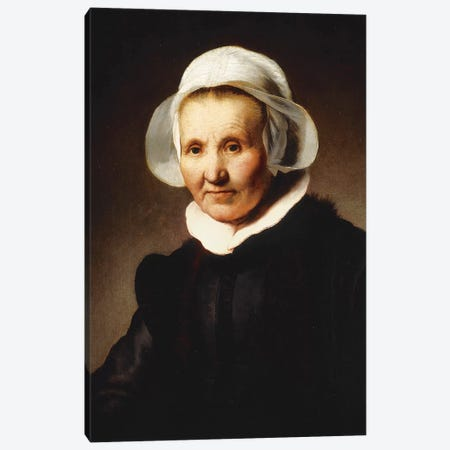 Portrait of a Lady, aged 62, perhaps Aeltje Pietersdr Canvas Print #BMN10984} by Rembrandt van Rijn Art Print