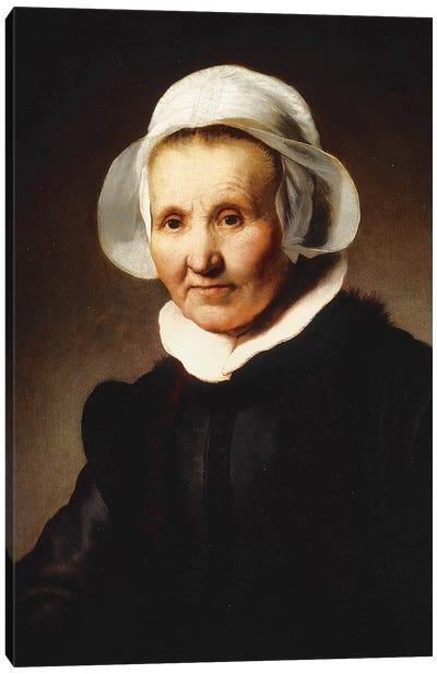 Portrait of a Lady, aged 62, perhaps Aeltje Pietersdr Canvas Art Print