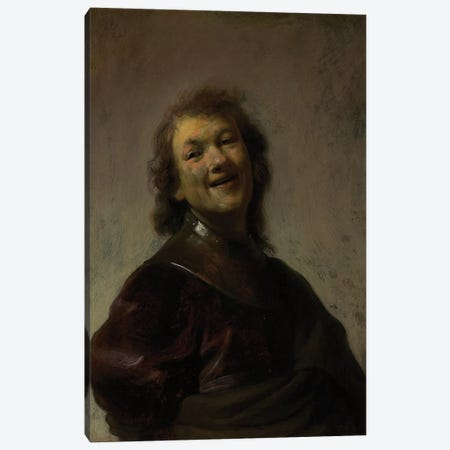 Rembrandt Laughing, c. 1628  Canvas Print #BMN10985} by Rembrandt van Rijn Canvas Print