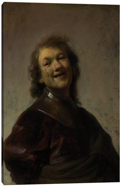 Rembrandt Laughing, c. 1628  Canvas Art Print