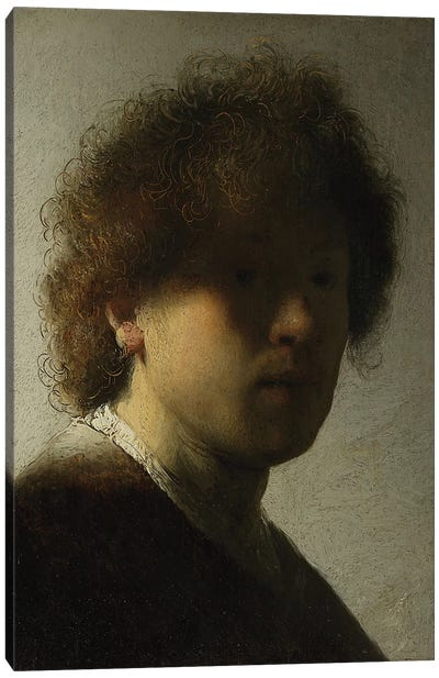 Self Portrait as a Young Man, c.1628  Canvas Art Print