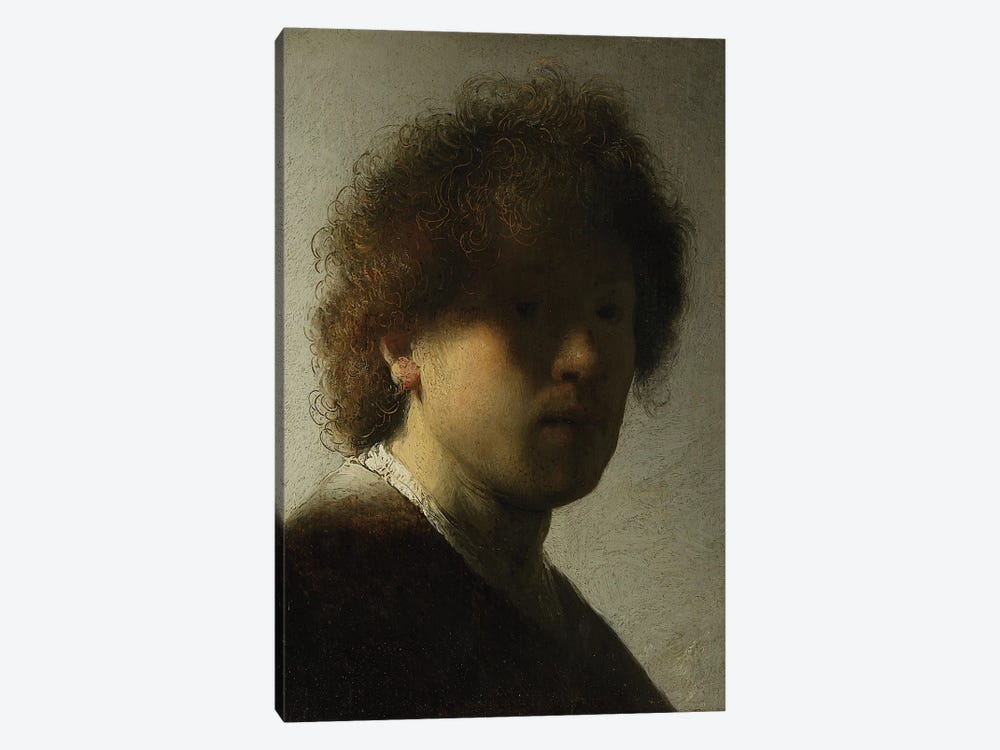 Self Portrait as a Young Man, c.1628  by Rembrandt van Rijn 1-piece Canvas Wall Art