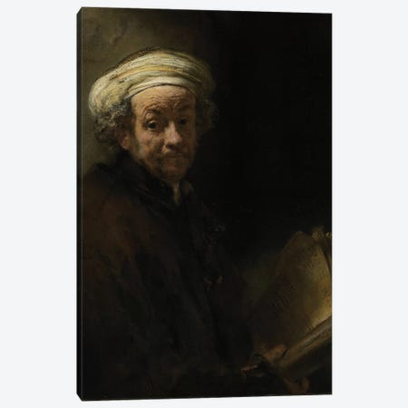 Self portrait as the Apostle Paul, 1661  Canvas Print #BMN10987} by Rembrandt van Rijn Canvas Print