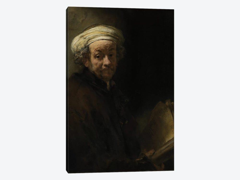 Self portrait as the Apostle Paul, 1661  by Rembrandt van Rijn 1-piece Canvas Art Print