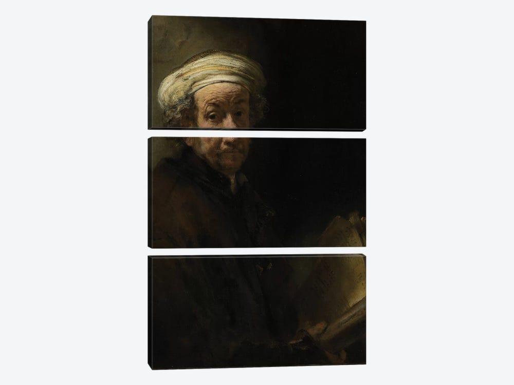 Self portrait as the Apostle Paul, 1661  by Rembrandt van Rijn 3-piece Canvas Print