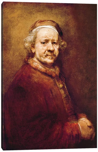 Self Portrait in at the Age of 63, 1669  Canvas Art Print