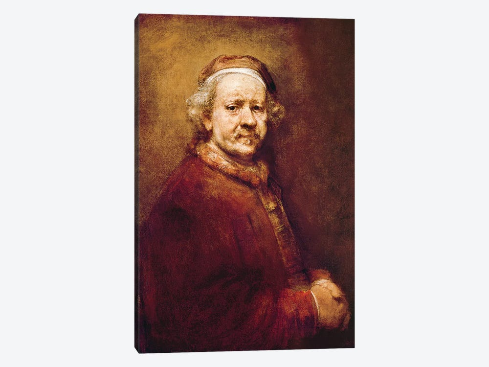 Self Portrait in at the Age of 63, 1669  by Rembrandt van Rijn 1-piece Canvas Wall Art