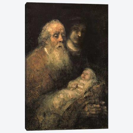 Simeon in the Temple, 1669  Canvas Print #BMN10991} by Rembrandt van Rijn Art Print